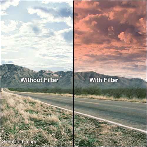 LEE Filters 100 x 150mm Hard-Edge Graduated Pop Red Filter