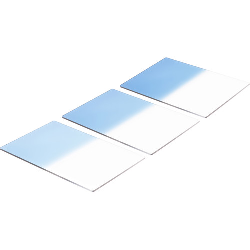"LEE Filters 4x6"" Sky Blue Resin Filter Set (Graduated - Hard Edge Sky Blue 1, 2, & 3)"