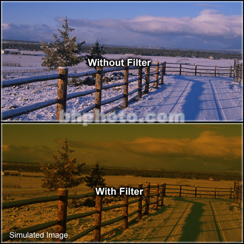 """LEE Filters 4x4"""" Tobacco 3 Special Color Effect Resin Filter"""