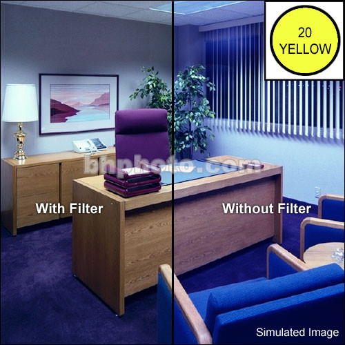 """LEE Filters 3 x 3"""" Yellow CC20Y Color Compensating Polyester Filter"""