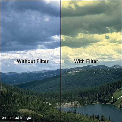 LEE Filters 100 x 150mm Hard-Edge Graduated Yellow Filter