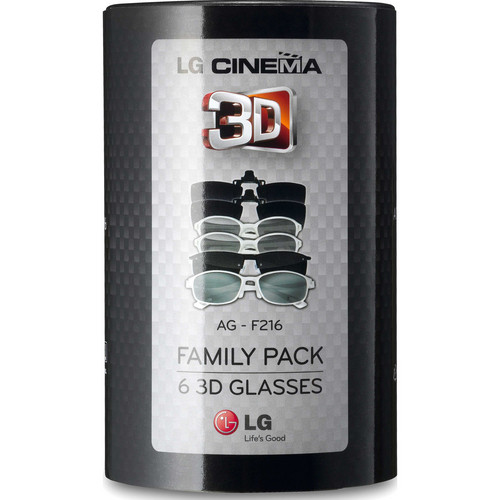 LG AGF216 Cinema 3D Glasses Family Pack (6 Pairs)