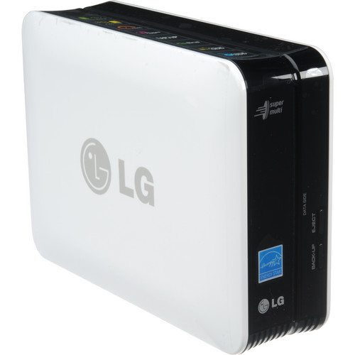 LG N1T1 1TB Super Multi NAS with DVD ReWriter (White)