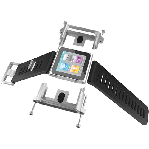 LUNATIK Wrist Strap Conversion Kit for iPod nano 6th Generation, 8/16GB (Silver)