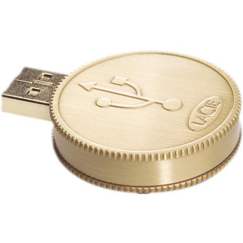 LaCie CurrenKey 16GB USB Flash Drive (Gold)