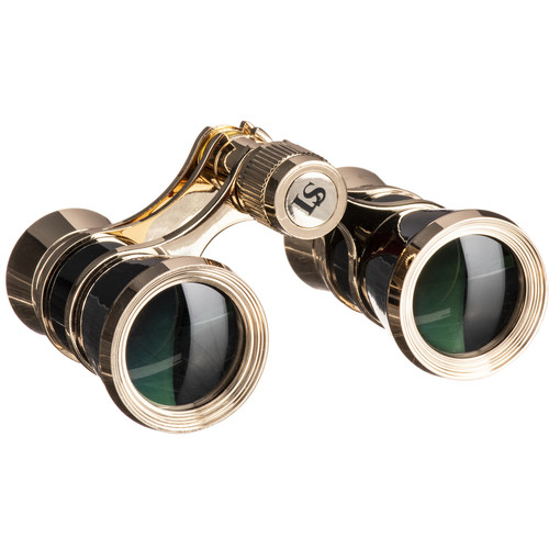 LaScala Optics 3x25 Aida Opera Glasses (Black & Gold)