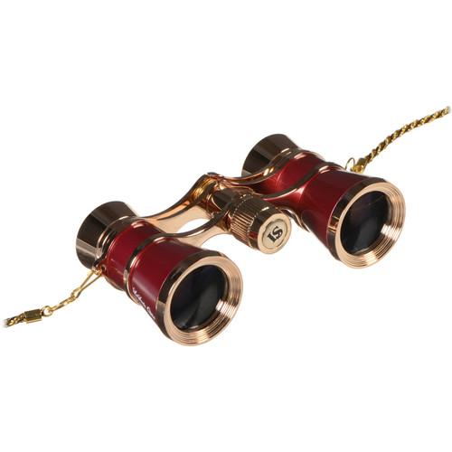 LaScala Optics 3x25 Carmen Opera Glasses (Burgundy / Gold)