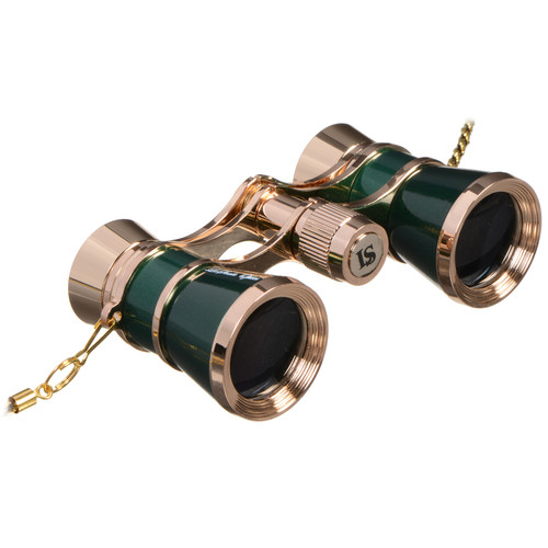 LaScala Optics 3x25 Carmen Opera Glasses (Green / Gold)