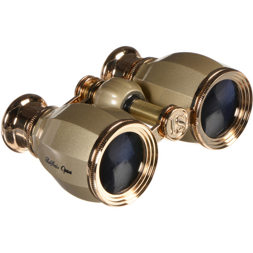 LaScala Optics 4x30 Hamlet Opera Glasses (Titanium & Gold)