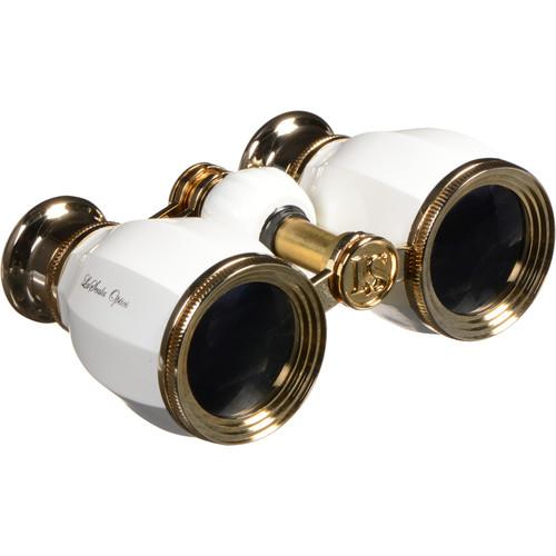 LaScala Optics 4x30 Hamlet Opera Glasses (White & Gold)