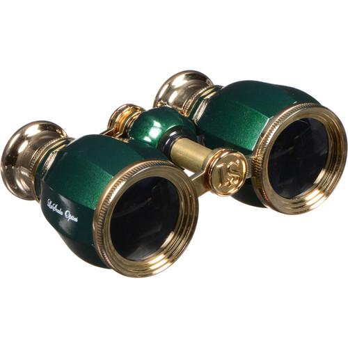 LaScala Optics 4x30 Hamlet Opera Glass (Green & Gold)