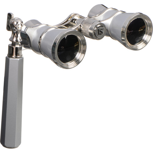 LaScala Optics 3x25 Iolanta Opera Glasses (Platinum & Silver)