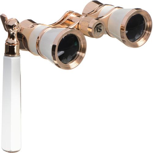 LaScala Optics 3x25 Iolanta Opera Glasses (White & Gold)