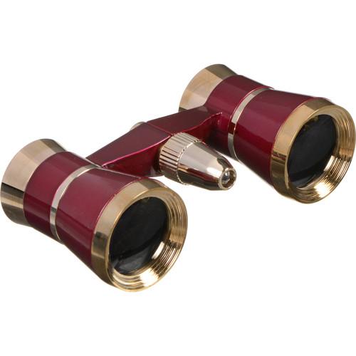LaScala Optics 3x25 Othello Opera Glass (Burgundy & Gold)