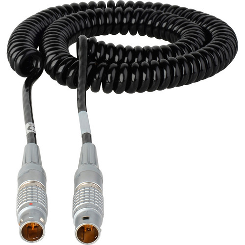 Laird Digital Cinema 2 to 5' Red One 12 VDC Coiled Power Cable - Lemo 2B 6-Pin Male to Male