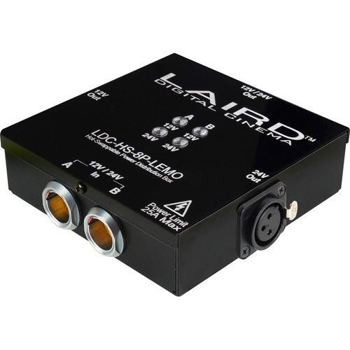 Laird Digital Cinema LEMO 3-Output 12 & 24 V Hot Swap Power Distribution Box