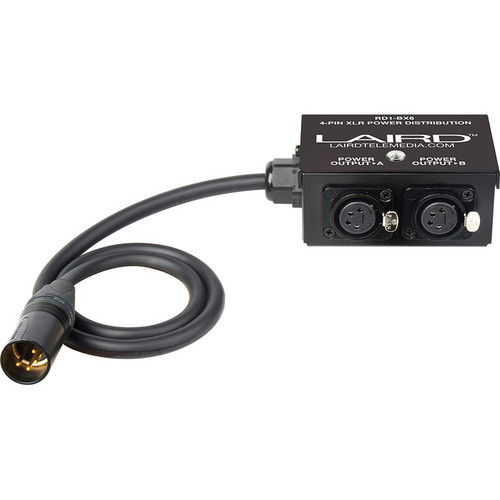 Laird Digital Cinema 12 Volt Power Splitter Box with 1 XLR4 to 2 XLR4