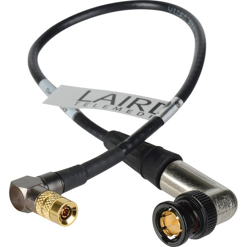 "Laird Digital Cinema 12"" 3G-SDI Cable with DIN RA 1.0/2.3 to BNC RA for RED ONE (Black)"