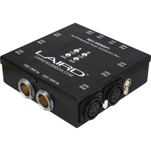 Laird Digital Cinema HSWAP-1 12 / 24V Hot Swap Power Distribution Box