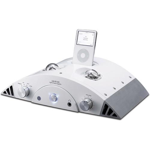 Lars & Ivan GDI-PA40T1W Hybrid Power Amplifier iPod Dock (White)
