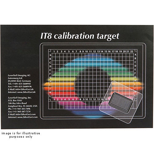 "LaserSoft Imaging Reflective IT8 4x5"" Color Calibration Target on Fuji Provia Film"