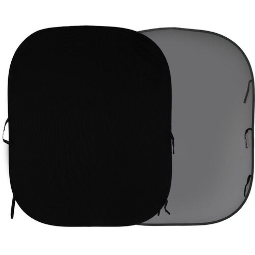 Lastolite Collapsible Reversible Background (6 x 7', Black/Mid Gray)