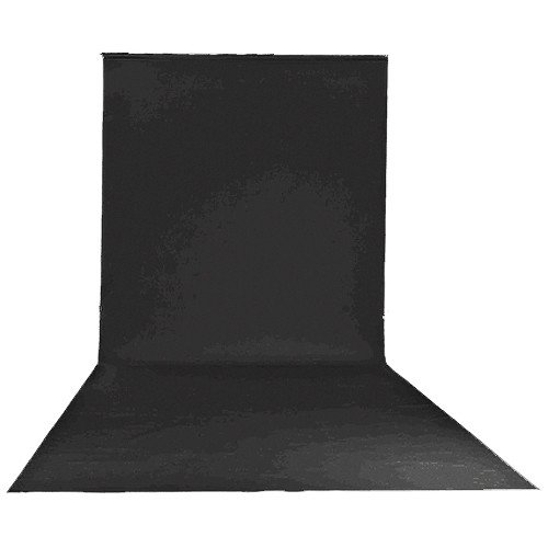 "Lastolite Vinyl Background (9 x 19'6"", Black)"