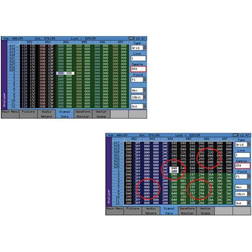 Leader SDI Data Display for PHABRIX