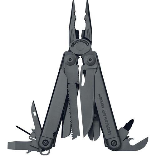 Leatherman Surge Stainless Steel Multi-Tool with Premium Nylon Sheath (Black Oxide, Boxed)
