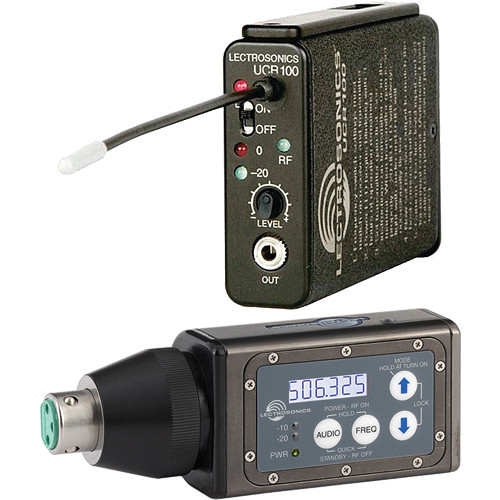 Lectrosonics 100 Series Wireless UHF Plug-in Mic System (B1: 537.600 to 614.375 MHz)