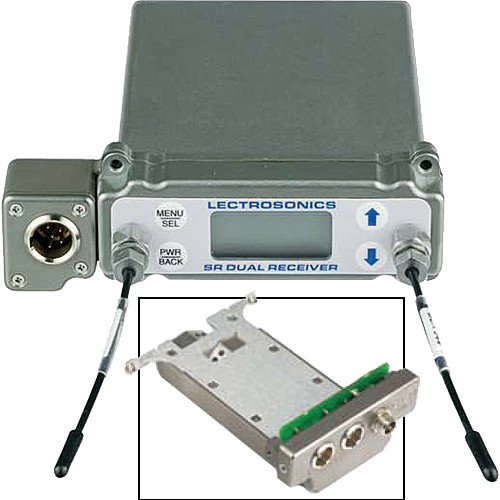 Lectrosonics SRb5P Dual-Channel Slot Mount Wireless ENG Receiver Kit with Bottom Mounted BATTSLED