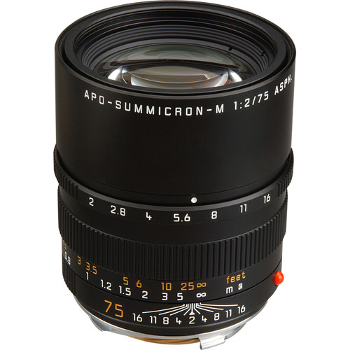 Leica 75mm f/2.0 APO Summicron M Aspherical Lens (6-Bit)