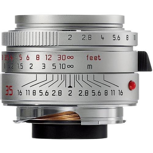 Leica 35mm f/2.0 Summicron M Aspherical Manual Focus Lens (6-Bit) - Chrome
