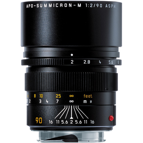 Leica 90mm f/2.0 APO Summicron M Aspherical Lens (6-Bit) - Black