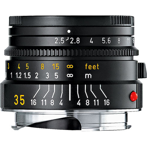 Leica 35mm f/2.5 Summarit-M Manual Focus Lens (Black)