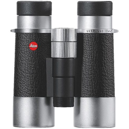 Leica Silverline 10x42 Binocular (Silver and Black)