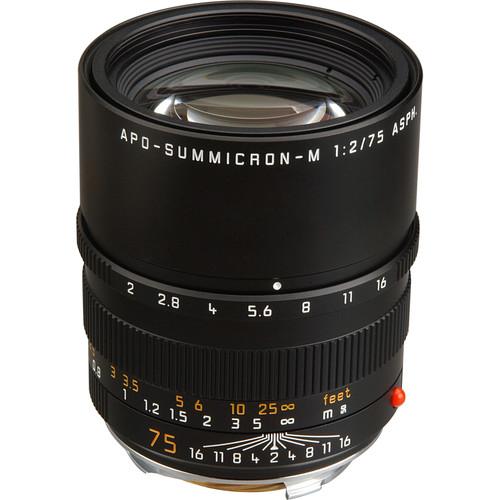 Leica APO-Summicron-M 75mm f/2 ASPH. Lens (Black)