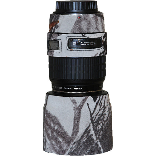 LensCoat Lens Cover for the Canon 100mm f/2.8 Macro Lens (Realtree AP Snow)