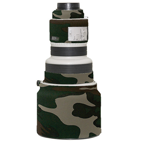 LensCoat Lens Cover for Canon 200mm f/1.8 Lens (Forest Green Camo)