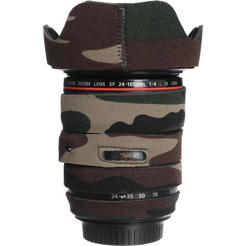 LensCoat Lens Cover for the 24-105mm f/4.0L IS USM AF Lens (Forest Green)