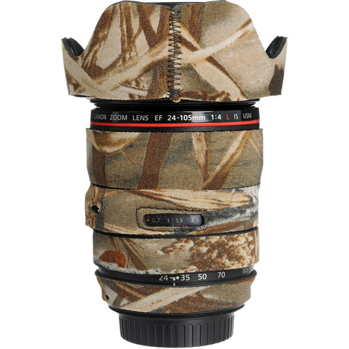 LensCoat Lens Cover for the 24-105mm f/4.0L IS USM AF Lens (Realtree Max4 HD)