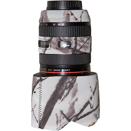 LensCoat Lens Cover for Canon 24-70mm f/2.8L (Realtree AP Snow)