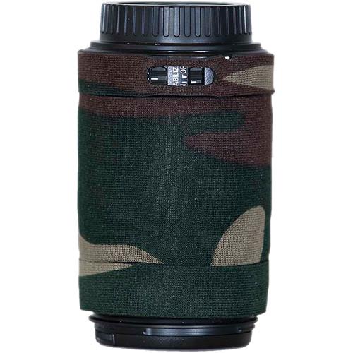 LensCoat Lens Cover for Canon 55-250mm f/4.0-5.6 IS AF Lens (Forest Green Camo)