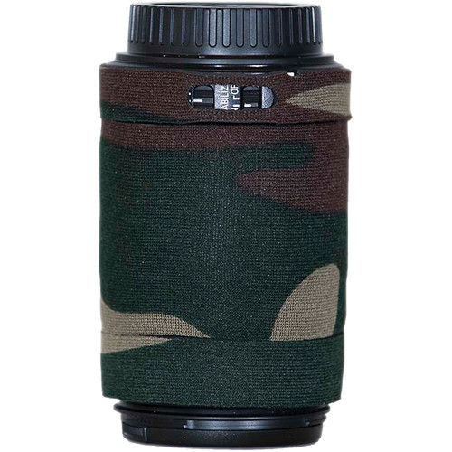 LensCoat Lens Cover for Canon 55-250mm f/4.0-5.6 IS AF Lens (Forest Green Camo)