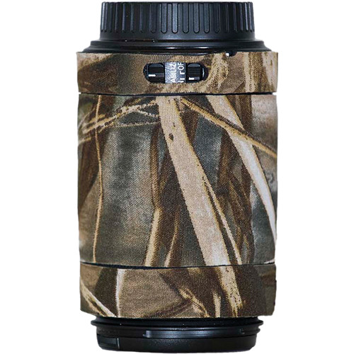 LensCoat Lens Cover for the Canon 55-250mm f/4.0-5.6 IS AF Lens (Realtree Max4 HD)
