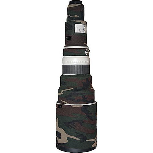 LensCoat Lens Cover for Canon 600mm f/4 Non IS Lens (Forest Green Camo)
