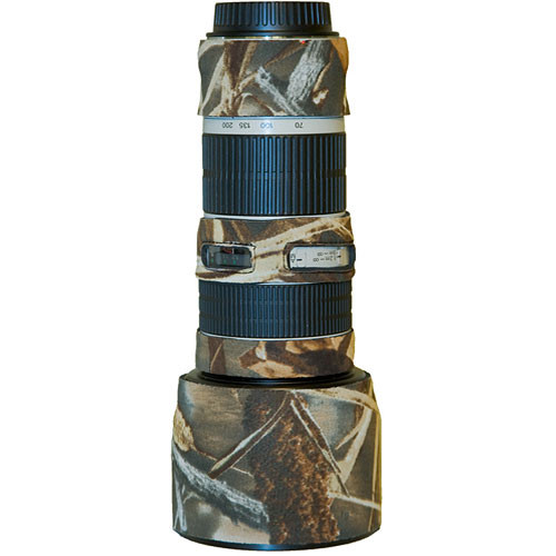 LensCoat Lens Cover for the Canon 70-200mm f/4 Non-IS Lens (Realtree Max4 HD)