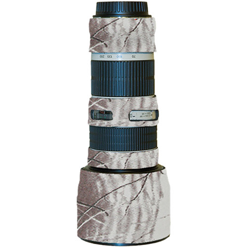 LensCoat Lens Cover for the Canon 70-200mm f/4 Non-IS Lens (Realtree AP Snow)