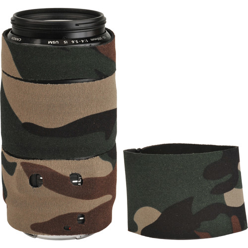 LensCoat Lens Cover for Canon 70-300mm f/4-5.6 Lens (Forest Green Camo)