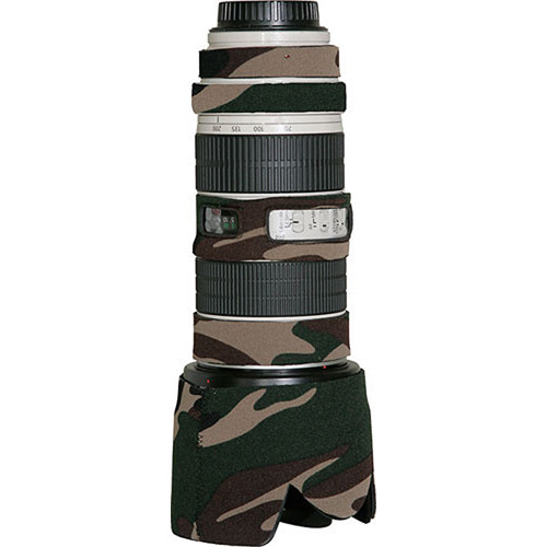 LensCoat Lens Cover for Canon 70-200mm f/2.8 Non-IS Lens (Forest Green Camo)